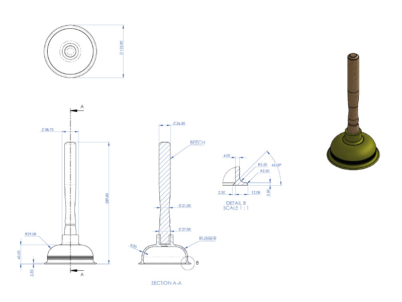 Plunger CAD Drawing